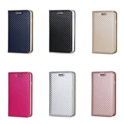 Fischschuppenmuster Neu Hochwertige Kohlefaser automatische Saug-Schnalle Hülle Case ,TPU + Leder Cover Full Body Schutz fürapple iphone 6 Marineblau Rose Gold