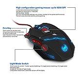 DLand Zelotes Gaming-Maus T90Profi-PC-Maus 9200DPI High Precision, mit USB-Anschluss, 8Tasten, mit 7LED-Modi, Gewichts-Tuning-Set, kompatibel mit Windows 7, 8, XP, Vista, ME, 2000und so weiter. - 4