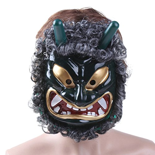 Tinksky Mascara para Halloween Cosplay de Halloween Máscara Veneciana de Fiesta DIY a Mano (Verde)