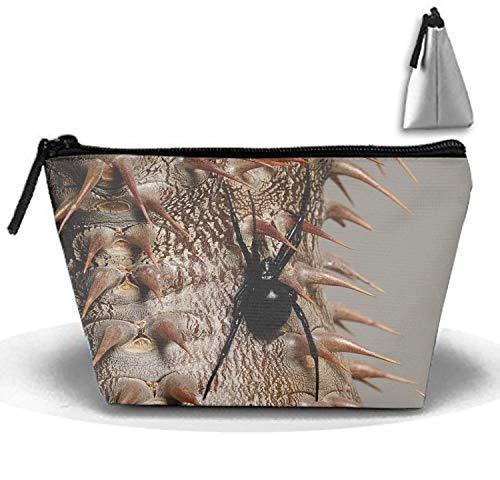 Kosmetiktaschen Travel Portable Make-up Tasche Spider Plant Thorns Trapez Clutch Bag