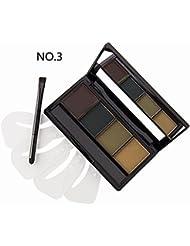 DE'LANCI 4 Colour Makeup Eyebrow Powder Palette Kit with Eyebrow Brush (NO.3)