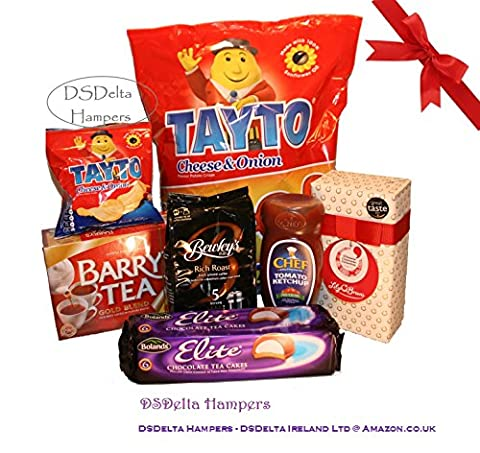 Irish Family Food Hamper Selection by DSDelta Hampers - Lily O'Brien, Barry's Tea, Tayto, Chef, Bewley's, Bolands - Irish Favourites from DSDelta Hampers