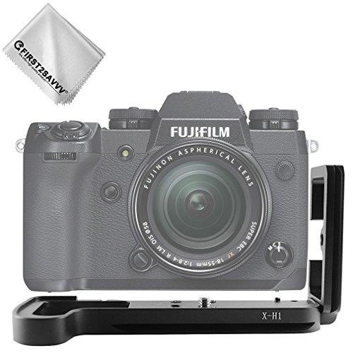 first2savvv Kamera Solide Aluminium L-förmigen vertikalen Schnellwechsel Platte für Fuji Fujifilm X-H1 XH1 - LLX-XH1-01