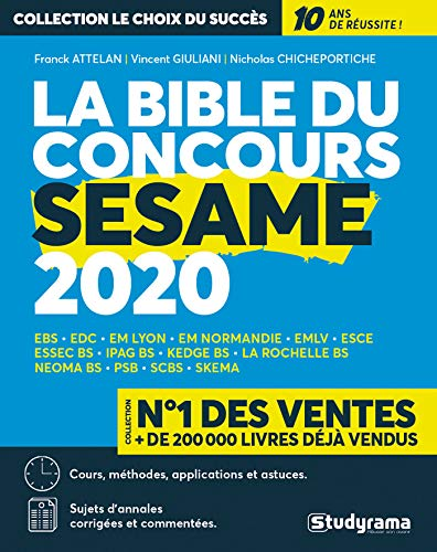 La bible du concours SESAME 2020