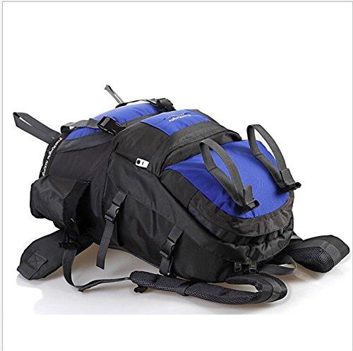 ubagoo Abfalltonne Wasserdicht Wandern Camping Rucksack Outdoor Groß Trekking Bergsteigen Klettern Rucksack Reisen Urlaub Gepäck Tasche Schwarz