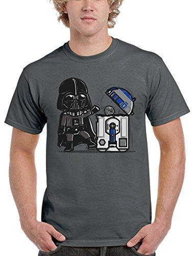 Camisetas La Colmena Herren T-Shirt Grau grau Dunkelgrau
