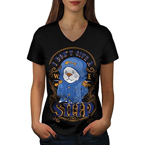 Pirat Geben EIN Schiff Komisch Damen S-2XL T-shirt | Wellcoda Black