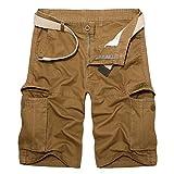 ZIXINGA Pantaloni Sportivi Mimetici da Uomo con Coulisse Pantaloni Classici da Jogging Camo Pantaloni da Lavoro con Cerniera