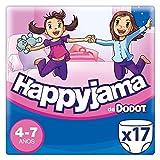 Dodot Happyjama - Pañales para niñas de 4-7 años, 17 unidades