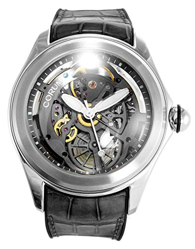 Corum Bubble Skeleton Dial Steel Mens Automatic Watch Grey Strap 082.400.20/0019 SQ19