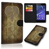 Book Style Alcatel One Touch Go Play 7048X Tasche Flip Brieftasche Handy Hülle Kartenfächer für Alcatel One Touch Go Play 7048X - Design Flip SVH153