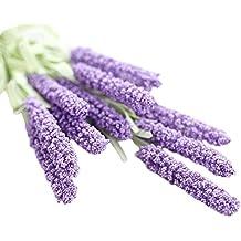 itemer 5ramilletes de 12cabezas artificial flores de lavanda para hogar dormitorio jardín de boda fiesta, violeta