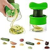 Almondcy Hand Held Spiralizer Good Grips Gemüse Spiralschneider Gemüseschneider-Grün