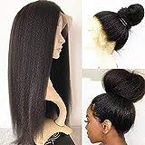 BLISSHAIR Lace Wig Cap Cheveux Bresilien Perruque Femme Naturelle - Yaki Perruque Kinkycurly Bresilienne 12 Pouces
