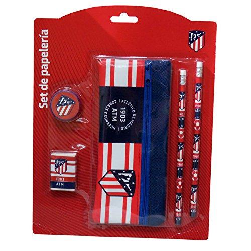 Set papeleria Atletico Madrid portatodo