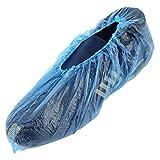 100pcs / ensemble chaussure en plastique jetable couvre les chambres à l'extérieur imperméable imperméable botte de pluie tapis propre hôpital couvre-chaussures kits d'entretien de chaussure bleu