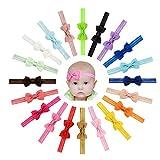 Baby Mädchen Stirnband Haarbögen Grosgrain Ribbon Stretch Bowknot für Kleinkinder 20pcs