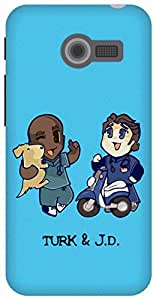 The Racoon Lean Turk and JD hard plastic printed back case / cover for Asus Zenfone 4 A400CG