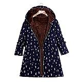 Staresen Mäntel Damen Wintermantel Jacke Warm Gefüttert Baumwollmantel Übergangsjacke mit Kapuze Frauen Windjacke mit Kapuze aus Baumwolle und Leinen aus Baumwolle für Frauen