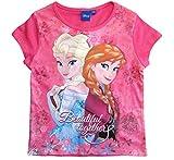 Frozen - Die Eiskönigin T-Shirt Kollektion 2018 Shirt 98 104 110 116 122 128 Mädchen Kurzarmshirt Anna ELSA Disney (Fuchsia, 116)