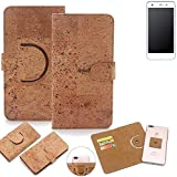 K-S-Trade Schutz Hülle für Vestel V3 5570 Handyhülle Kork Handy Tasche Korkhülle Schutzhülle Handytasche Wallet Case Walletcase Flip Cover Smartphone Handyhülle