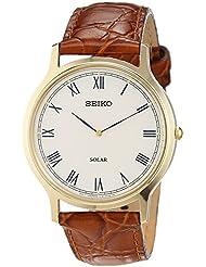 Seiko Herren-Armbanduhr Analog Quarz Leder SUP876P1