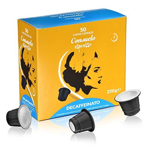 Consuelo -  cápsulas de café compatibles con Nespresso* - Forte, 50 cápsulas