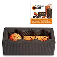 Preisvergleich für Blackroll Orange (Das Original) BLOCK für Yoga mit Massageball blackBALL-orange und kleiner Faszienrolle MINI. Mehr Anwendungsmöglichkeiten bei der Selbstmassage und beim Faszien Training. Bringt verklebte Faszien in Bewegung und stimuliert Trigger-Punkte