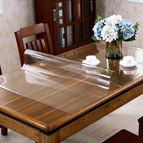 XKQWAN Wasserdicht Anti-verbrühende isolierte spitze Tischdecken Weiches Glas Durchsichtige Tischtuch Kunststoff Einweg Teetisch matten Tischtuch-B 85x135cm(33x53inch)