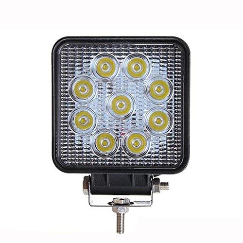 ZHAS 1 PCS 4 Zoll 27W LED-Arbeitsleuchte Bar Flut Strahl Platz für Boot Schiff SUV Lkw Auto ATVS Angeln Deck - Led-leuchten Utility-anhänger