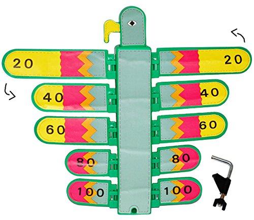alles-meine.de GmbH bewegliche Zielscheibe / Vogelschießen - Bogenschießen -  bunter Vogel  + Befestigungssystem - Stabiler Kunststoff - Adlerschießen - für Innen & Außen - ADL..