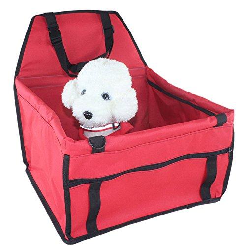 Owikar Pet Car Seat Carrier portatile pieghevole Pet Dog Car Travel cintura di sicurezza, Oxford impermeabile amaca scratch tasca portaoggetti per cucciolo di cane e gatto