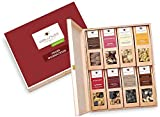 wellnuss Weihnachtsgeschenk: 8 Premium Nuss- und Schokoladen-Snacks in der Geschenkbox aus Birkenholz mit der Schmuckverpackung