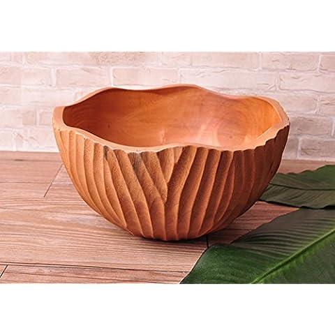 Frutta di casa bio di caramella piatto noci di legno