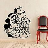 yaonuli Adesivo murale Anatra Topo Cartone Animato Vinile Applique Decorazione Famiglia cameretta Ragazza Ragazzo cameretta Decorazione Applique 102X85cm