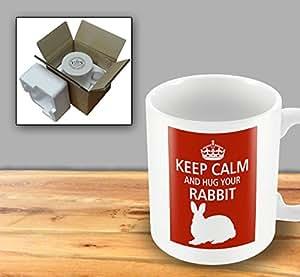 Pet Lover Designer Mug - Keep Calm And Hug Your Rabbit