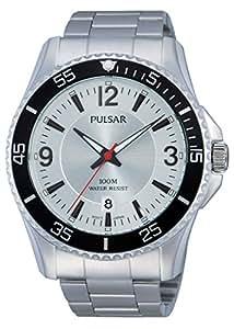 Pulsar - PS9287X1 - Montre Homme - Quartz - Analogique - Aiguilles lumineuses - Bracelet Acier Inoxydable Argent