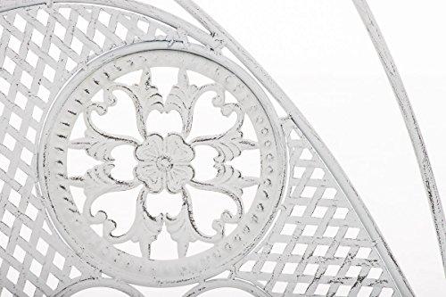 CLP Metall-Gartenbank TJURE im Landhausstil, Eisen lackiert, ca. 140 x 60 cm Antik Weiß - 5
