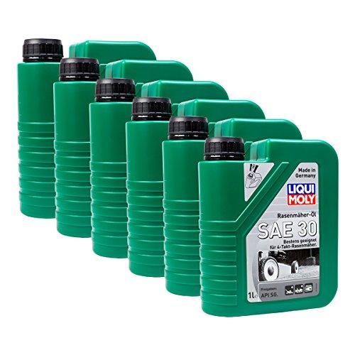 Preisvergleich Produktbild 6x LIQUI MOLY 1264 Rasenmäher-Öl SAE 30 Motoröl API SG 1L