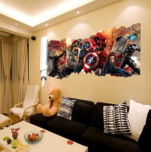 Personaje de dibujos animados Populares Superhéroes de la Pared Personaje de Regalo Pegatinas de Pared Para Niños Habitación Dormitorio Decoración Del Hogar Mural