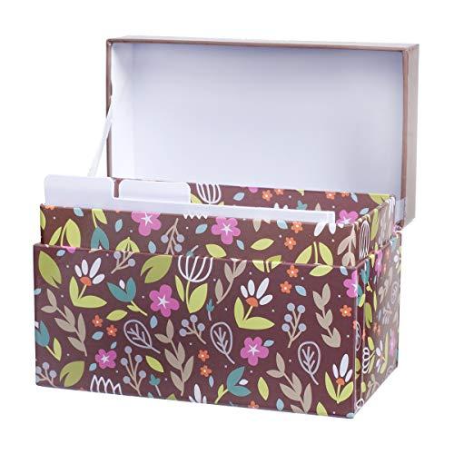 Darice 30041319 Rezeptbox, Blumenmotiv, 17 x 11,4 x 9,5 cm - Darice-box