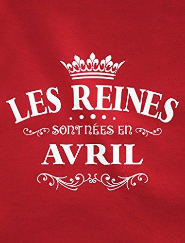 Green Turtle T-Shirts les Reines Sont Nées en Avril - Anniversaire Débardeur Femme Framboise