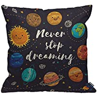 HGOD DESIGNS Throw Pillow Cover Afro African Women With Purple Hairstyle Blow Bubbles Cushion Covers Home Decorative for Men/Women/Boys/Girls living room Bedroom Sofa Chair 18X18 Inch Pillowcase
