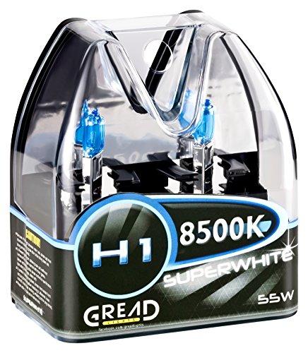H1 Box Halogen Lampen in Xenon Optik von Gread Lights | Super White | 8500k 55W | E-Prüfzeichen | 100% Passgenauigkeit & lange Lebensdauer