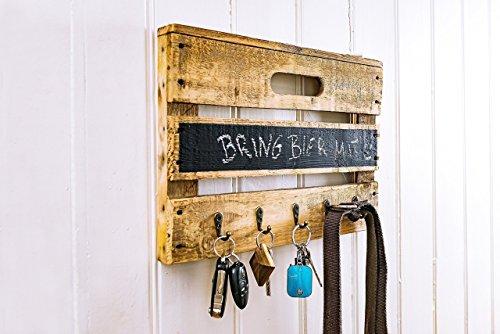Schlüsselbrett aus Altholz Holz alter Obstkiste mit Tafellack für kleine Nachrichten, auch für Leinen, Handtücher, Handmade, Unikat, Upcycling