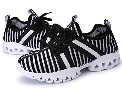 IIIIS-R Donna Scarpe da Ginnastica Corsa Sportive Running Sneakers Fitness Interior Casual all'Aperto Nero