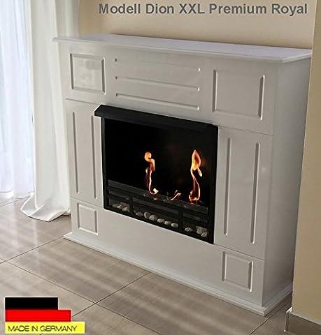 Ethanol Cheminee Firegel Modèle Dion Deluxe Royal XXL Blanc