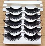 wimpern XXL falsa falsa artificial Eye Lashes 1x Box 5x par de hechas a mano. pestañas Ojo Accessories Makeup Eye
