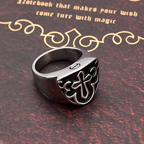 LUVFAOAIWO Ring Pet Memorial Ring Edelstahl Feuerbestattung Asche Urne Schmuck (Feuerbestattung Ringe)