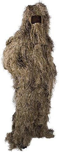 normani Taktischer 'Ghillie Suit' Tarnanzug mit Jacke, Hose, Kopf- und Gewehrabdeckung Farbe Wüstentarn Größe M/L
